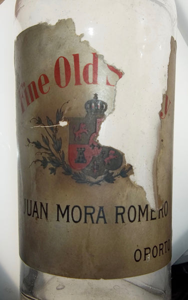 Juan Mora Romero Fine Old Sherry from Portugal with Original Paper Label