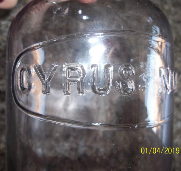 Crown Distilling Cyrus Noble Bottle with Original Foil on Neck