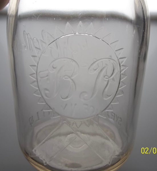Blue Ribbon Dairy Milk Bottle from Syracuse, New York