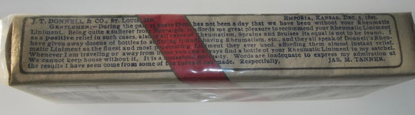 Donnell's Rheumatic Liniment from St. Louis, Missouri