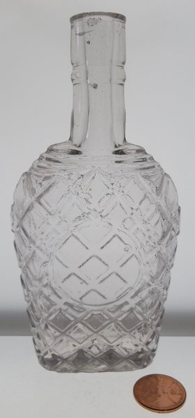 Quilted Whiskey Flask from 1880's