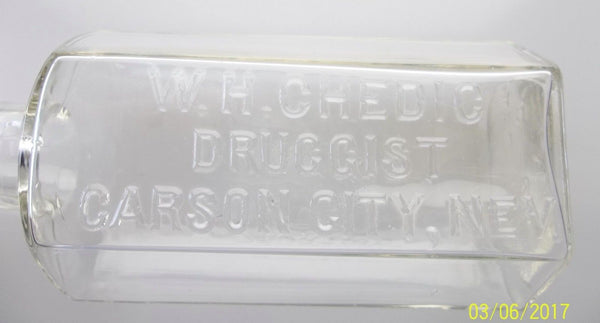 Sparkling W.H. Chedic Druggist Bottle from Nevada