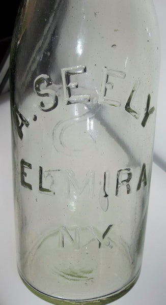 1887 A. Seely Soda Bottle from Elmira, NY with Original Wire Closure!