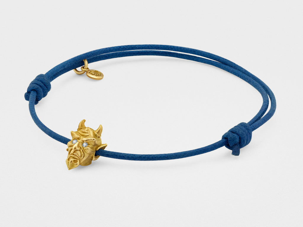 Devil Bracelet in Yellow Gold with Diamond Eyes