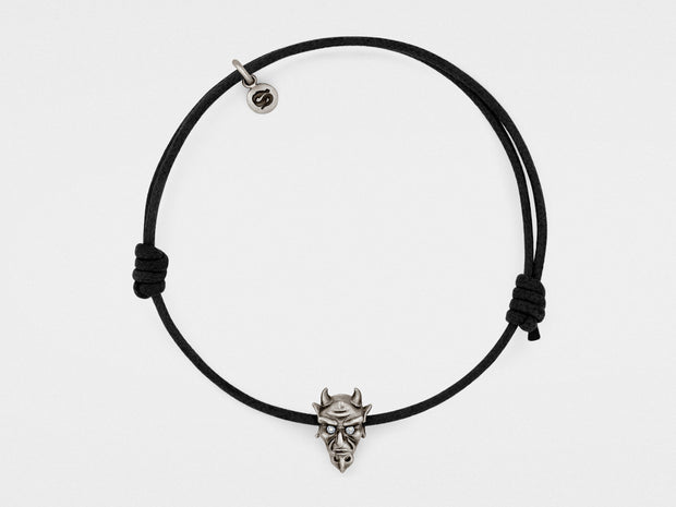 Devil Bracelet in Oxidized Silver with Diamond or Ruby Eyes