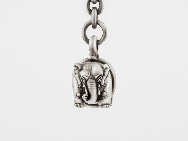 Elephant Keychain in Sterling Silver