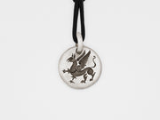 Griffin Charm Pendant in Sterling Silver
