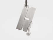 """Sharp Edge"" Razor Pendant in Sterling Silver"