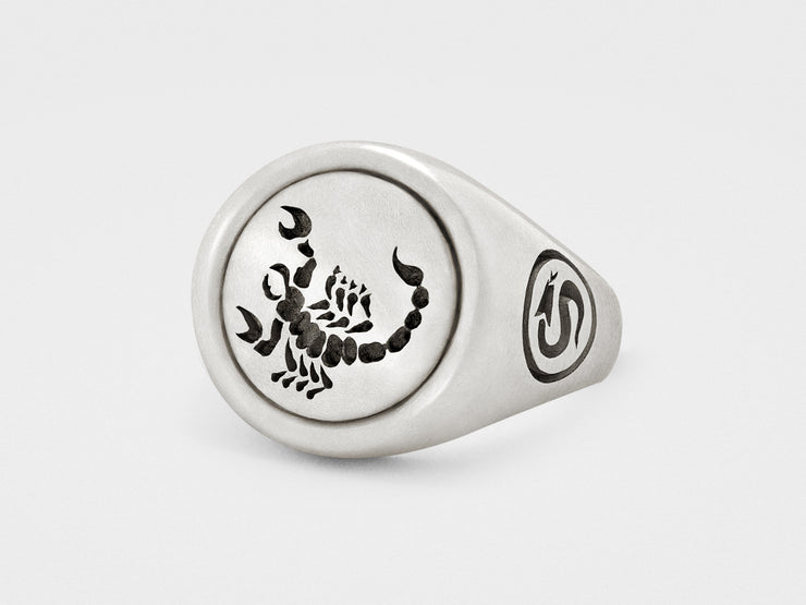 Scorpion Signet Ring in Sterling Silver