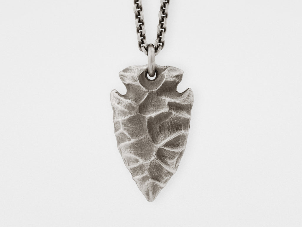 Arrowhead pendant in solid sterling silver snake bones arrowhead pendant in sterling silver aloadofball Images
