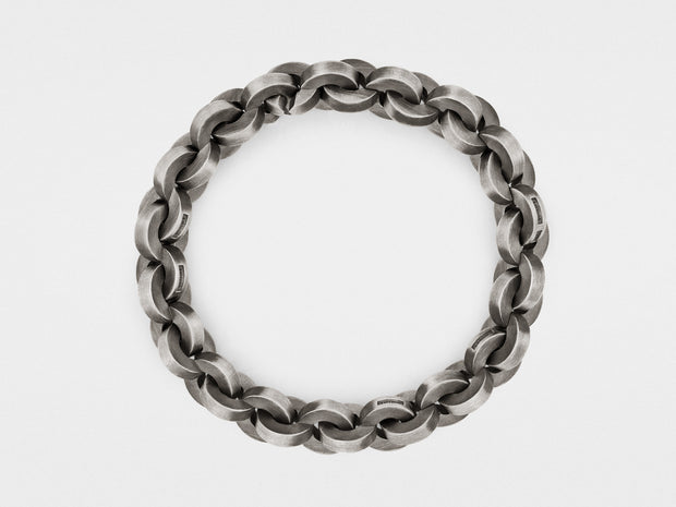 Bold Round Link Chain Bracelet in Sterling Silver