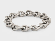 Wave Link Chain Bracelet in Sterling Silver