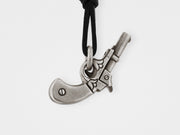 Gun Pendant in Sterling Silver