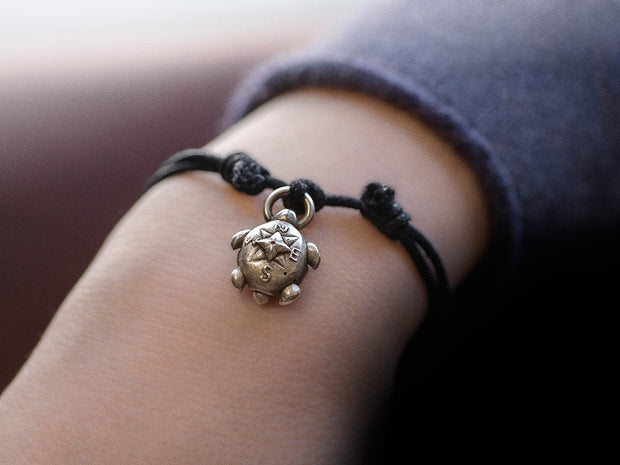 "Turtle ""Compass Rose"" Bracelet with Secret Compartment"