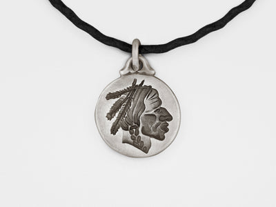 Native American Chief Pendant in Sterling Silver