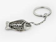 """Big Fish Eat Little Fish"" Keychain in Sterling Silver"