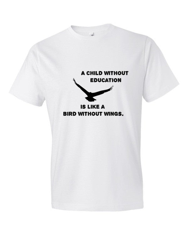 Give Wings to Fly Men's Tee Invest in a Child with GiveLight.org