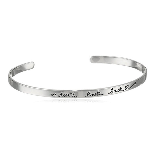 Don't Look Back Cancer Bangle