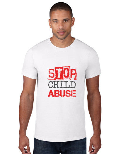 Stop Child Abuse Men's Tee