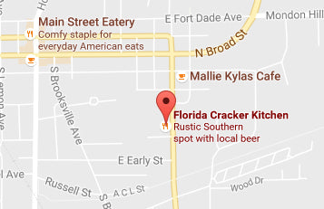 Directions to Skinny Water Culture's Hard Core Fly Tying Night at Florida Cracker Kitchen