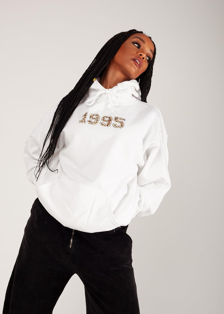 Personalised Oversized Hoodie in White