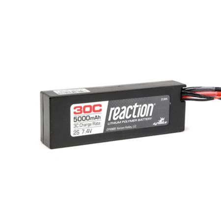 7.4V 5000mAh 2S 30C Reaction Hardcase LiPo Battery: EC3