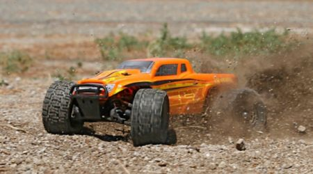 1/18 Ruckus 4WD Monster Truck RTR, Orange/Yellow