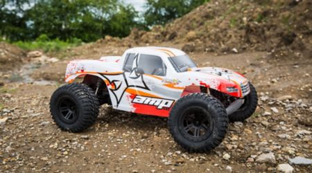 1/10 AMP MT 2WD Monster Truck RTR, White/Orange