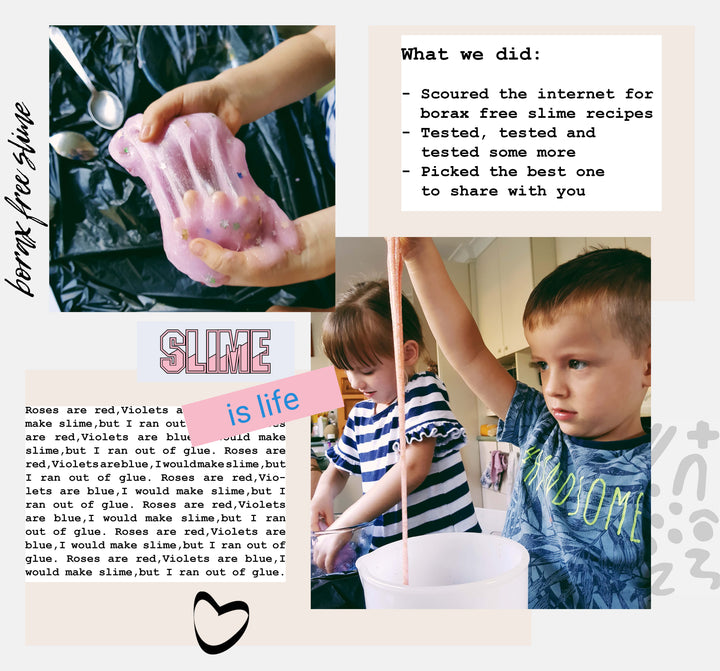 we made borax free slime