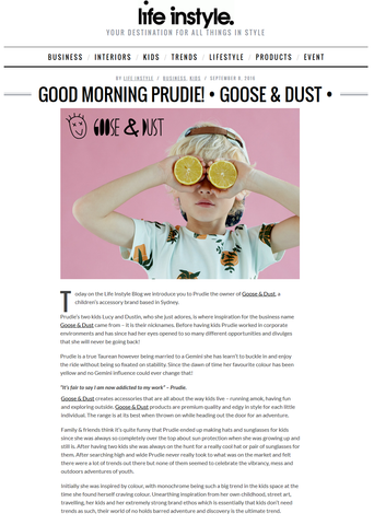 Life Instyle Blog Featuring Goose & Dust