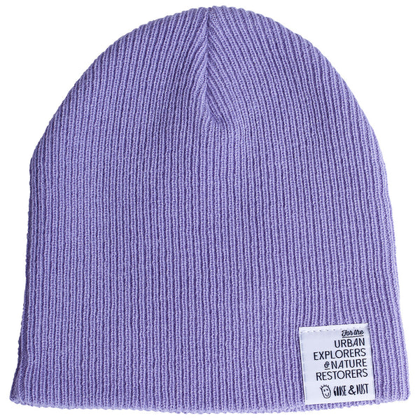Lavender Slouch & Roll Beanie