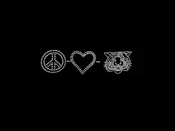 Peace-Love-Wildcat/Tiger (3pcs)