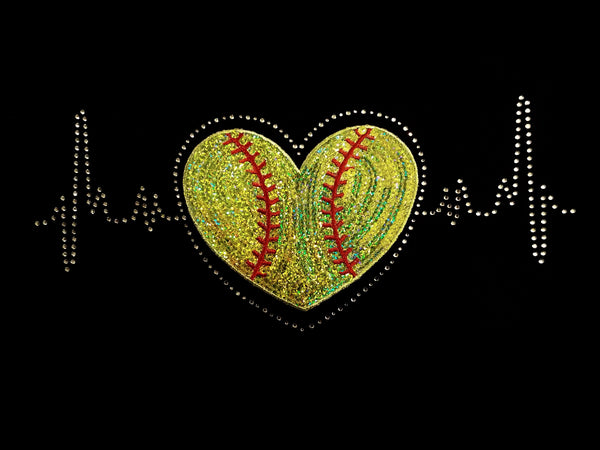 Softball Heart Beats