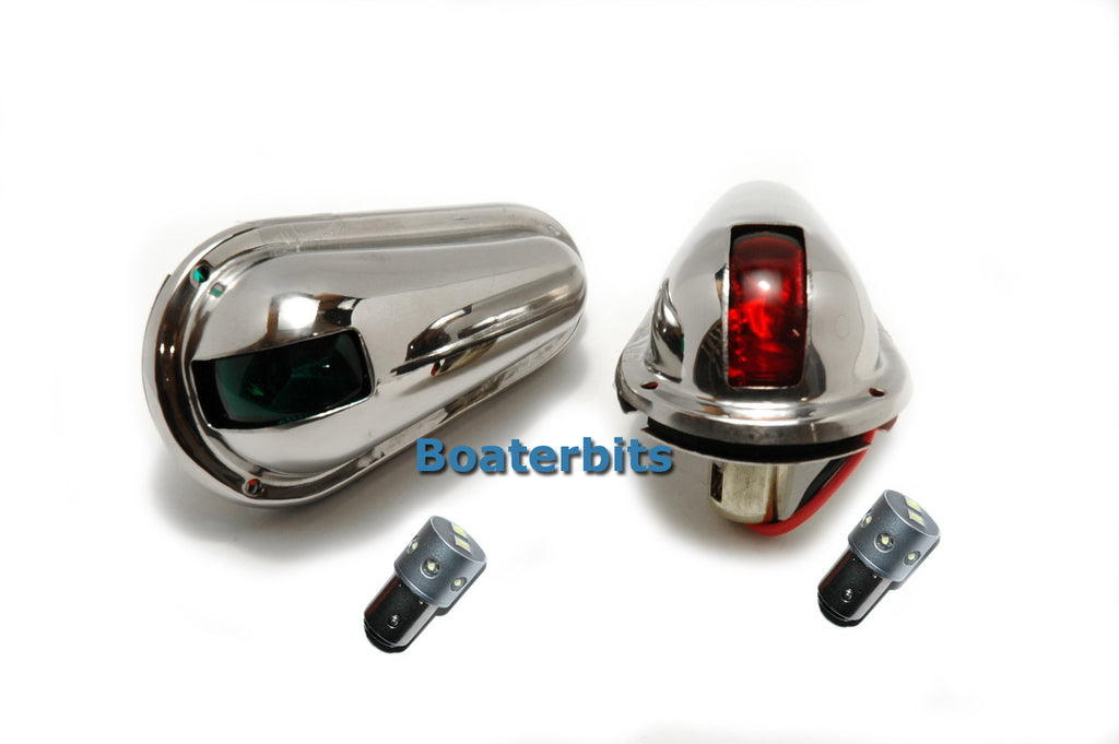 Stainless Steel Boat Side Lights- Running Lights Led - Boaterbits