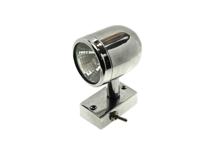 Chrome Plated Brass Halogen Reading Light - Boaterbits