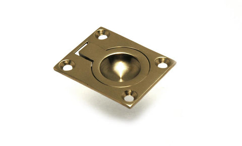 Boat Hatch Flush Ring Pull Solid Brass - Boaterbits