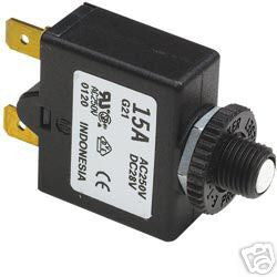 Push Button Circuit Breaker 15A - Boaterbits
