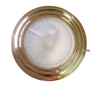 "Titanium Nitride Halogen Dome Light 6-1/2"" - Boaterbits"