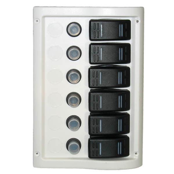 6 Gang Waterproof Power Boat Circuit Breaker Panel - Boaterbits