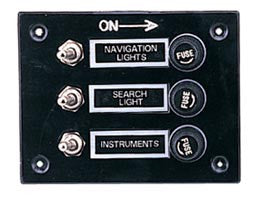 3 Gang Fused Switch Panel - Boaterbits