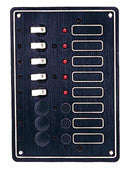 8 Circuit 12 Volt Marine / Rv Breaker Panel - Boaterbits