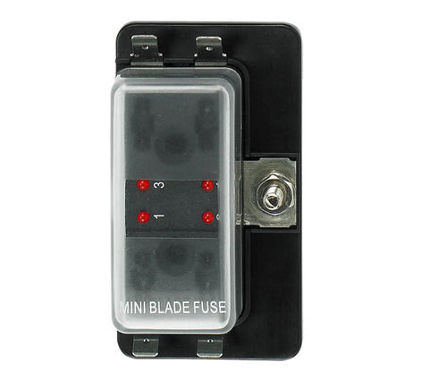 12 Volt Atm Style Fuse Blocks W/ Led Indicator 4 Gang - Boaterbits