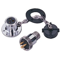 Waterproof Electrical Deck Connector Plug 3 Pin - Boaterbits