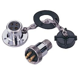 Waterproof Electrical Deck Connector Plug 4 Pin - Boaterbits