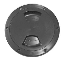 "Boat Deck Inspection Ports Black Lid 4"" - Boaterbits"