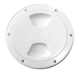 "Boat Deck Inspection Ports White Lid 6"" - Boaterbits"