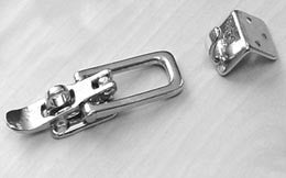Chromed Brass Eccentric 90 Degree Hatch Latch - Boaterbits