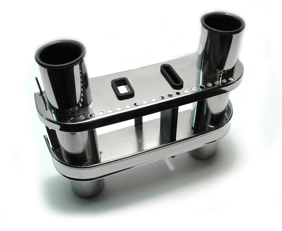Stainless Steel Fishing Rod Holder Dual - Boaterbits