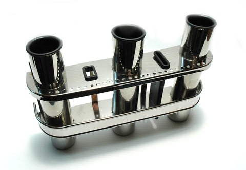Stainless Steel Fishing Rod Holder Tripple - Boaterbits