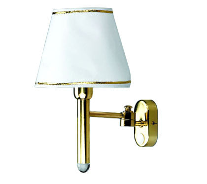 Boat Salon Wall Light W/ Shade Brass 12V - Boaterbits